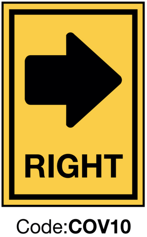 Right Directional Sign
