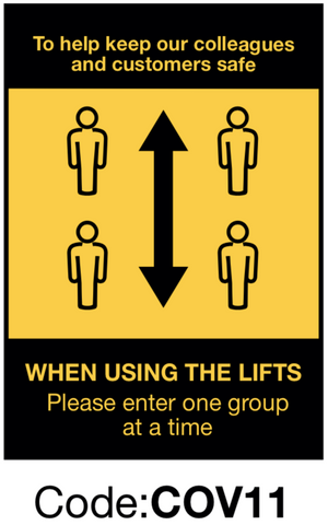 Using Lifts Directional Sign