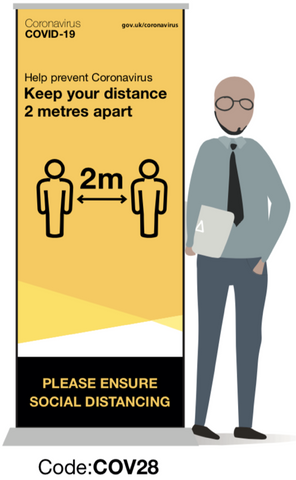 Keep Your Distance Pull-up Banner