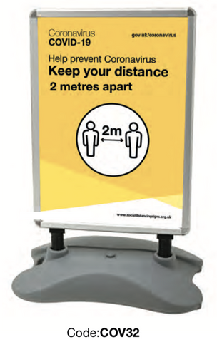 Keep Your Distance Premium Pavement Sign