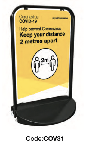 Keep Your Distance Budget Pavement Sign