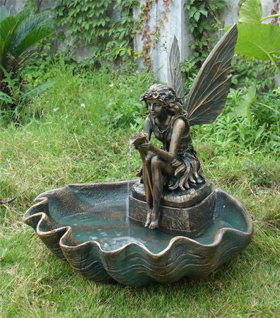 Outdoor Classics Fairy Shell Outdoor Fountain - ZenWaterFountains.com  - 1