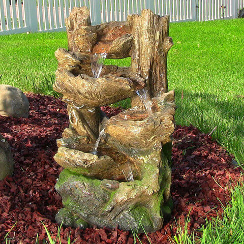 5-Tiered Woodland Fountain w/ LED Lights - ZenWaterFountains.com  - 1