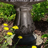 Classic Pineapple 3 Tier Fountain in Black Finish