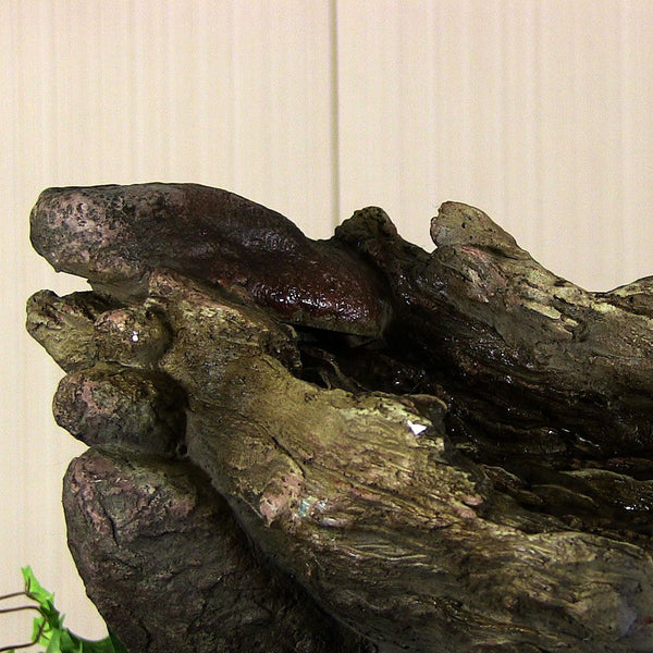 ... Log And Stone Tabletop Fountain W/ LED Lights ...