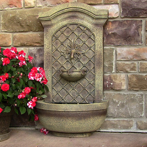 Sunnydaze Rosette Leaf Outdoor Wall Fountain - ZenWaterFountains.com  - 1