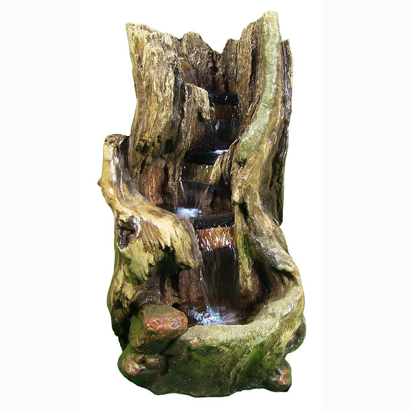 Rustic Outdoor Waterfall w/LED Lights