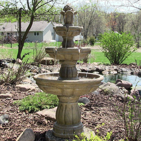 "3-Tier 48"" Outdoor Water Fountain - ZenWaterFountains.com - 1"