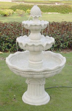 3-Tier Pineapple Garden Fountain - ZenWaterFountains.com  - 1