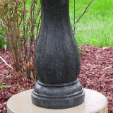 "46"" 2-Tier Pineapple Solar On Demand Garden Fountain in Black"
