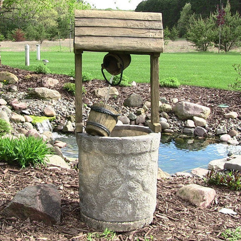 American Wishing Well Outdoor Fountain - ZenWaterFountains.com  - 1