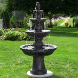 Black 4-Tier Pineapple Fountain
