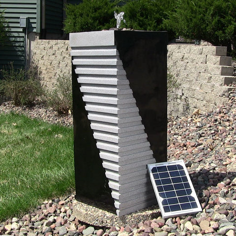Sunnydaze Designer Tower Solar On Demand Fountain - ZenWaterFountains.com  - 1