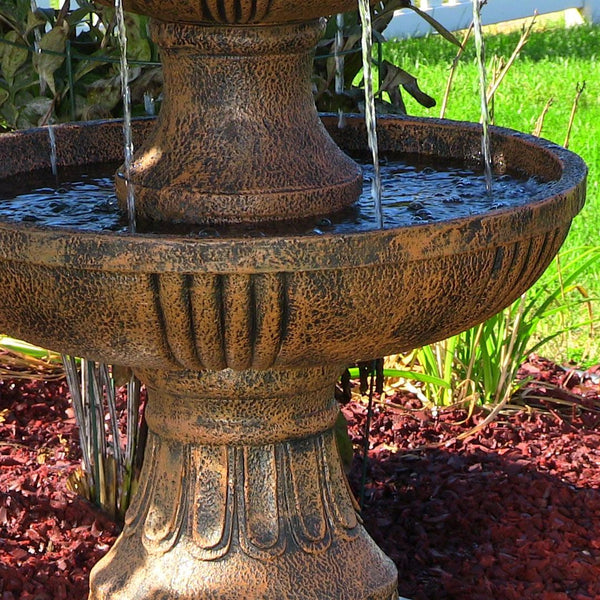 Flower Blossom 3-Tier Water Fountain