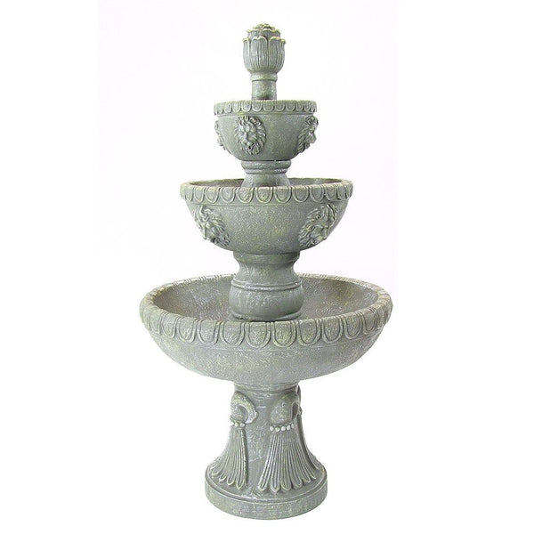 Four Tier Lion Head Water Fountain