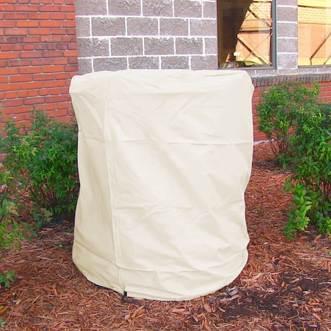 "Heavy Duty 56"" x 68"" Beige Water Fountain Cover - ZenWaterFountains.com  - 1"