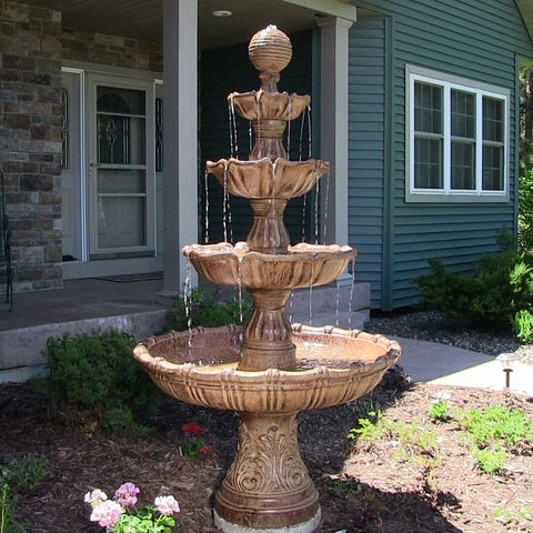 Large Tiered Ball Outdoor Fountain - ZenWaterFountains.com  - 1