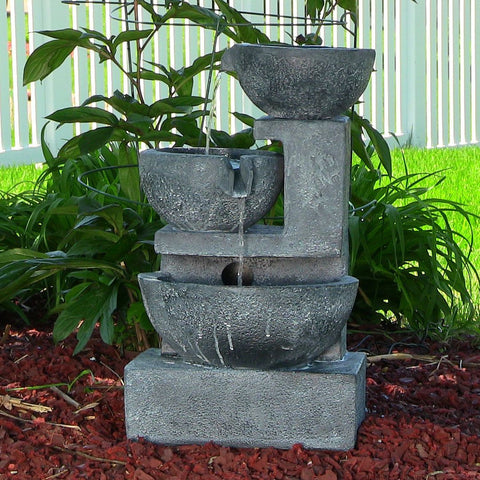 Old World Cascading Bowls Solar-on-Demand Fountain - ZenWaterFountains.com  - 1