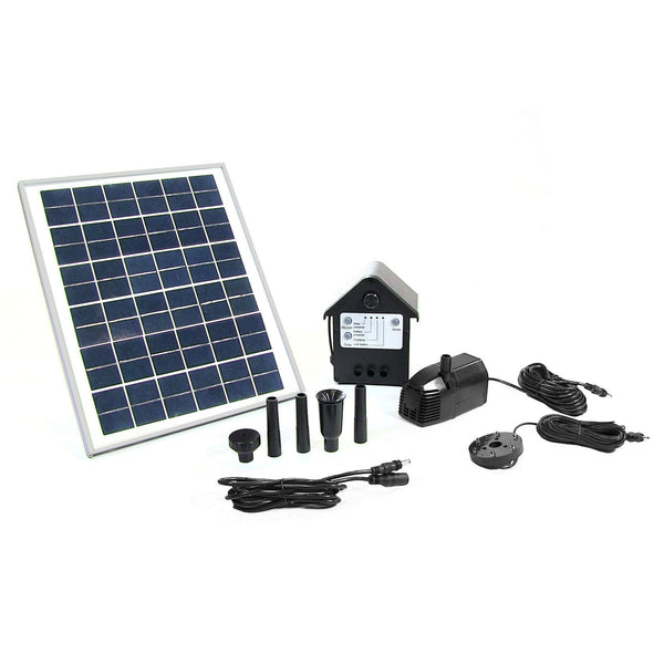 "Solar Pump and Solar Panel Kit With Battery Pack and LED Light with 78"" Lift"