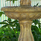Two Tier Tulip Solar-on-Demand Fountain, Earth Finish