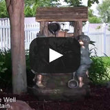 Children at the Well Outdoor Water Fountain with LED Light