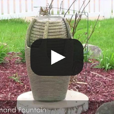 Bubbling Pot Solar On Demand Floor Fountain with LED Light
