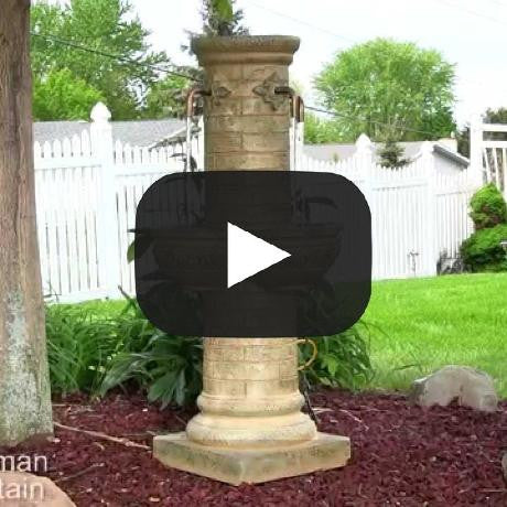 Old World Roman Water Fountain with LED Lights
