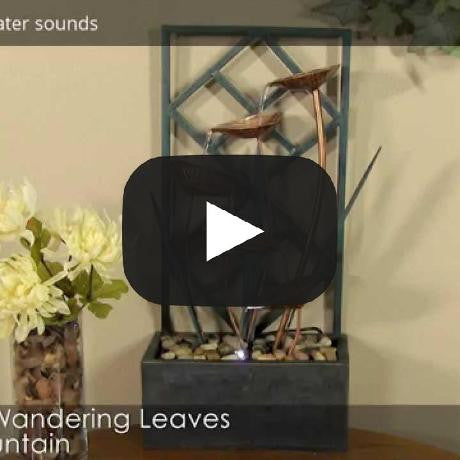 Cascading Wandering Leaves Tabletop Fountain with LED Lights