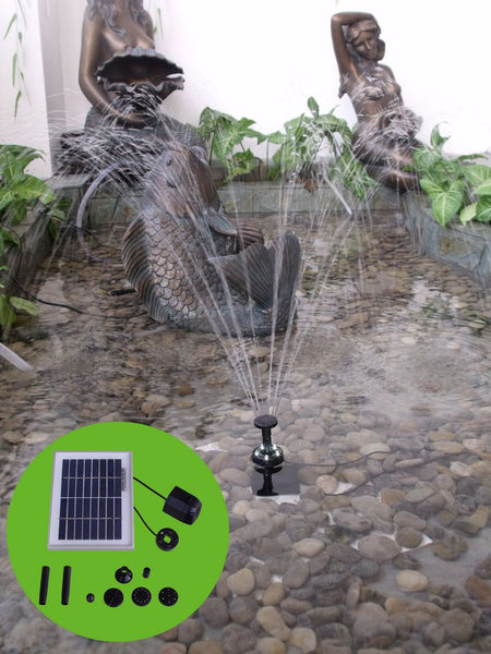 "Solar Pump and Solar Panel Kit With Battery Pack and LED Light - 36"" Head"