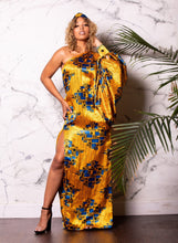 Load image into Gallery viewer, Ashanti Silk One-Shoulder Dress | Shop Ekete