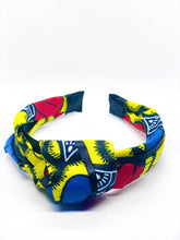 Load image into Gallery viewer, Pull back your tresses in the chicest way in our handmade African print knot headband