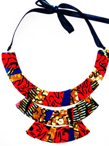 Elegant and stylish Haffi piece, handmade with African print fabric