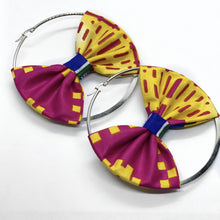 Load image into Gallery viewer, Kalo Hoop Earring with Bow | Shop Ekete
