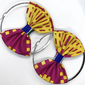 Kalo Hoop Earring with Bow