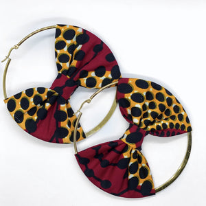 Dijah Hoop Earring with Bow