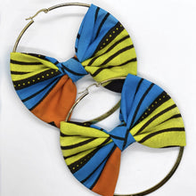 Load image into Gallery viewer, Chinwe Hoop Earring with Bow