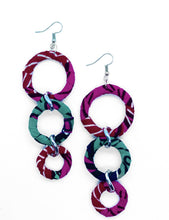 Load image into Gallery viewer, Handmade African Print link earrings. These drop earrings are perfect for every occasion