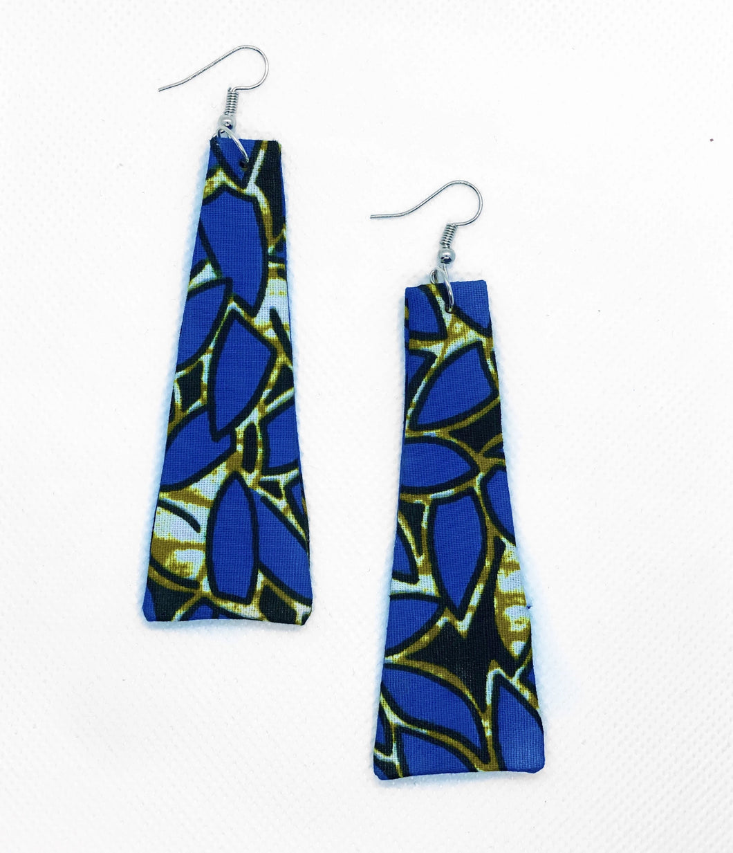 Minimalist and stylish African print earrings