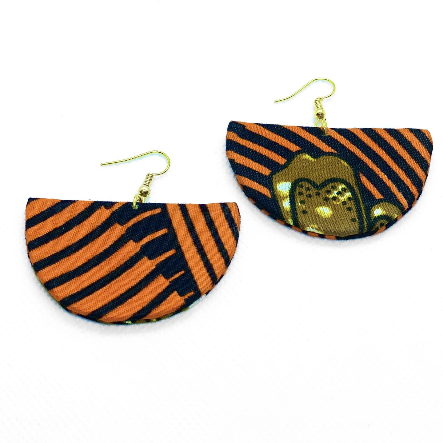 Stylish African print drop earrings, minimalist and stylish