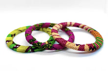 Load image into Gallery viewer, African arm candy, best worned stacked. Handmade with African print.