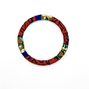 African arm candy, best worned stacked. Handmade with African print.