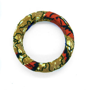 Handmade African Print bangles, the perfect arm candy.