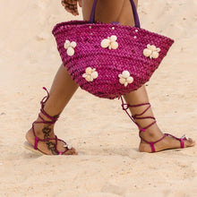 Load image into Gallery viewer, Seashell Woven Rattan Bag - Pink