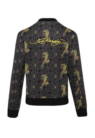 BAROQUE-TIGER BOMBER JACKET LADIES - GOLD - Image 2