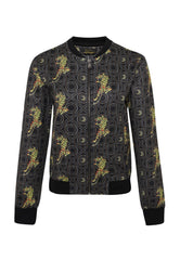BAROQUE-TIGER BOMBER JACKET LADIES - GOLD - Ed Hardy Official