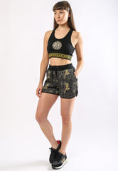 BAROQUE-TIGER RUNNER SHORT LADIES - GOLD