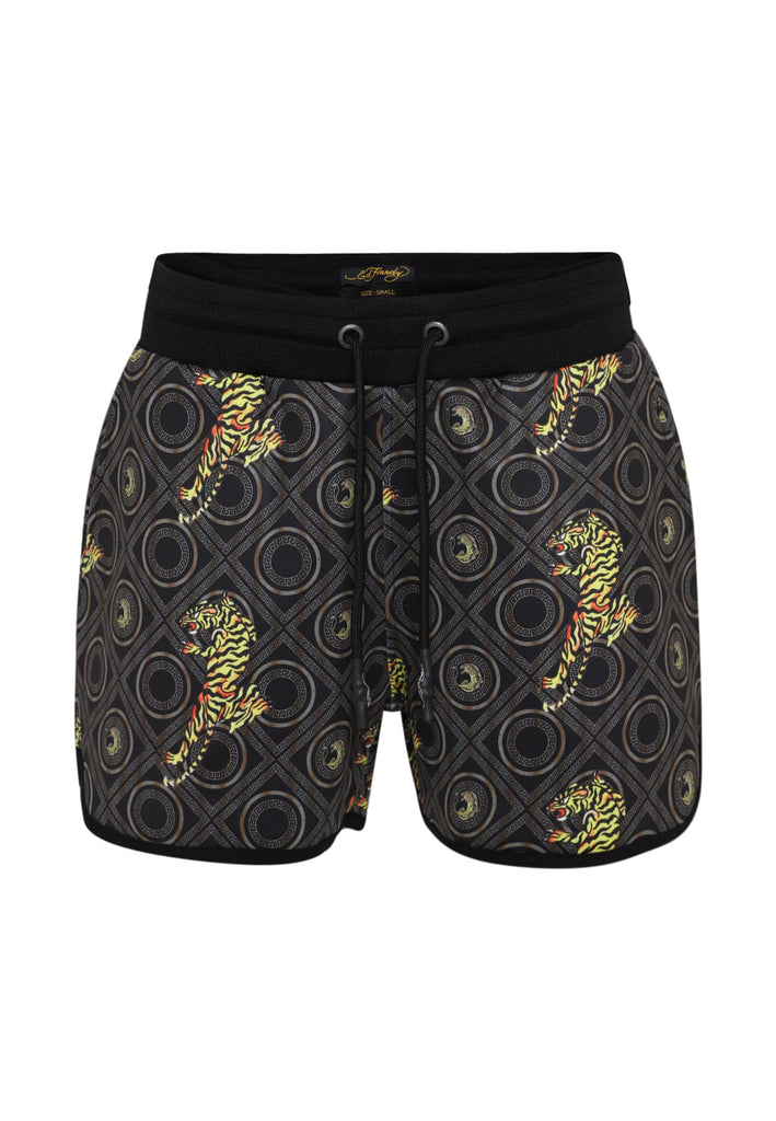 BAROQUE-TIGER RUNNER SHORT LADIES - GOLD - Ed Hardy Official