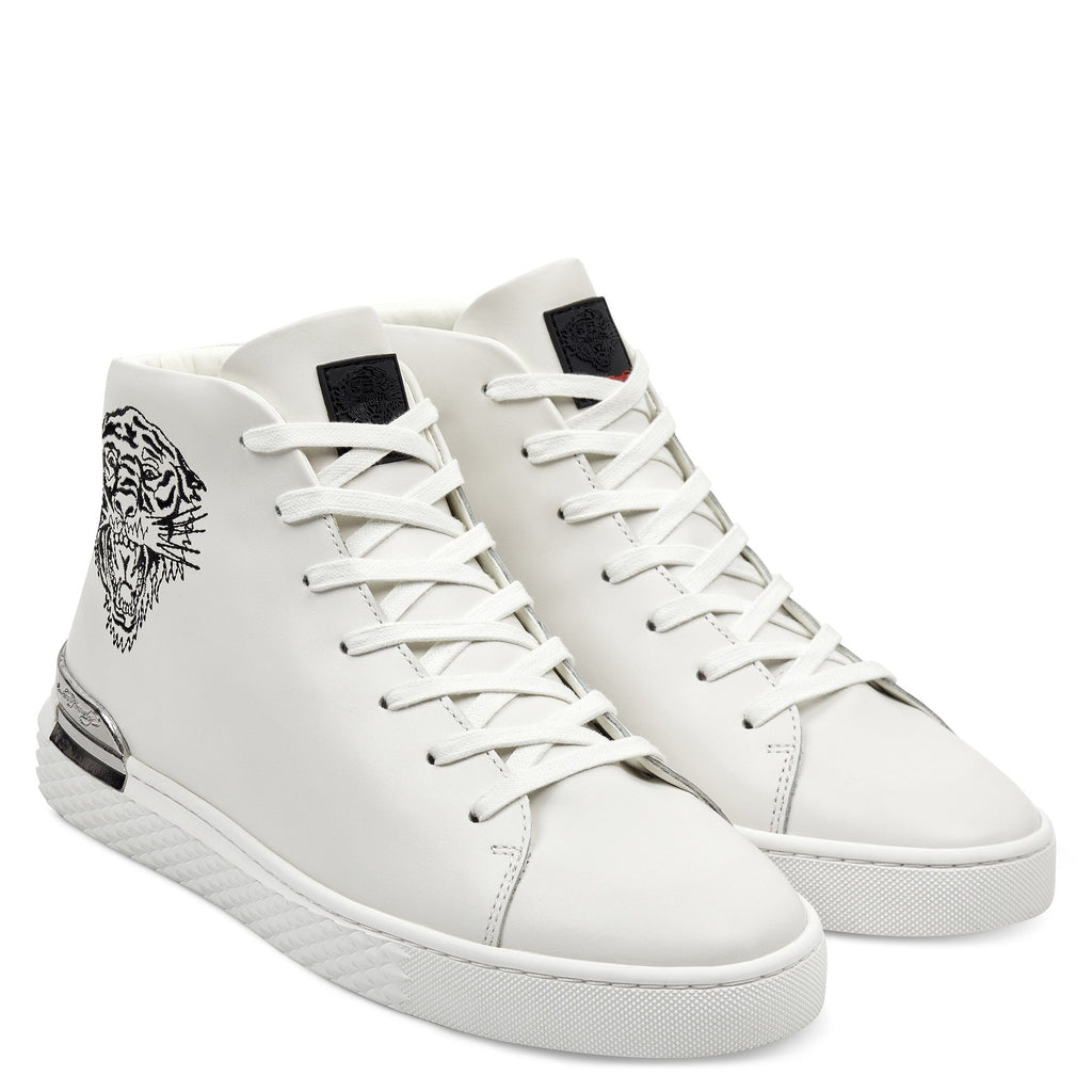 BEAST HIGH TOP-WHITE/GUNMETAL - Ed Hardy Official