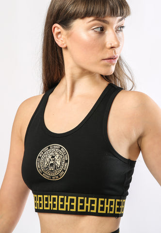 BIG-TOUR RACER CROP TOP - BLACK