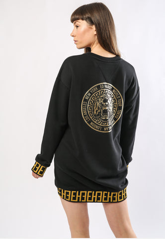 BIG-TOUR SWEATER DRESS OVERSIZED - BLACK - Image 2